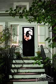 make your own halloween door decorations with vinyl a spooky