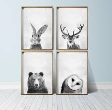 Animal Wall Decor For Nursery Nursery Wall Animal Print Woodland Nursery Decor Nursery