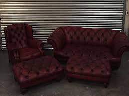 Chesterfield Sofa Suite Oskar Oxblood Tetrad Leather Chesterfield Sofa Suite Wingback And