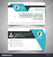 blue fold modern creative business card stock vector 549190420