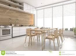 Cuisine Scandinave Design by 3d Rendant La Cuisine En Bois De Style Scandinave Blanc Et La