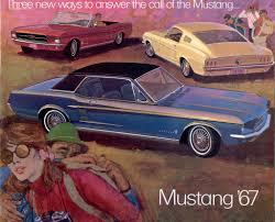 ford 1967 mustang sales brochure