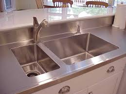 kitchen sink and counter stainless steel island countertop with double kitchen sink bowls