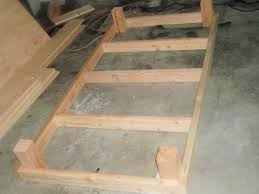 Diy King Size Platform Bed Frame by Build A Twin Platform Bed Frame Easy Woodworking Solutions