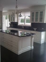 Kitchen White Cabinets Black Countertops - builddirect u2013 granite countertops u2013 black galaxy kitchen view