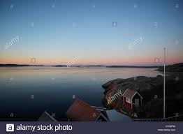 Landscape With Houses by Sweden West Coast Lysekil Scenic Landscape With Houses At