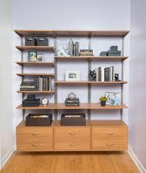 Bookcase With Baskets Organized Living Freedomrail Adjustable Shelving