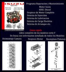 software de taller motor isuzu 6hk1 serie f y serie t gm bs