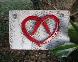 heart shaped horseshoes patriotic horseshoe decor lucky horseshoes painted