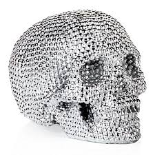 skull decor skull decor glamorous metallic skull z gallerie