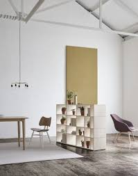 decordots tylko ivy shelf as a room divider in open plan living room