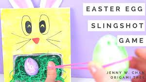 easter crafts for kids easter egg bunny slingshot game mbm