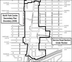 road map of york york centre service road roads and trails infrastructure