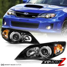 subaru headlight styles fit 2008 2011 subaru impreza wrx sti 2 5 outback black front