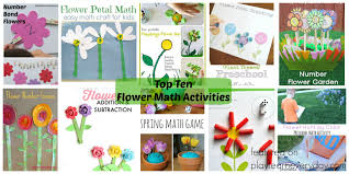 top ten flower math activities play and learn every day