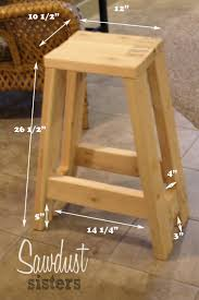 diy barstool using only 2x4s sawdust sisters