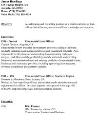 Free Resume Example by Commercial Loan Officer Resume Sample Http Resumesdesign Com