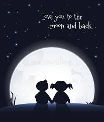 you to the moon and back stock vector illustration of