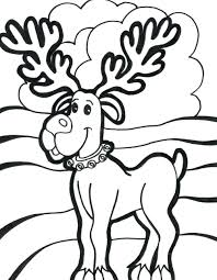 reindeer coloring sheets free printable pages of rudolph online
