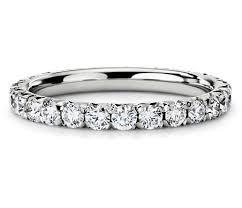 eternity ring pavé diamond eternity ring in platinum 1 ct tw blue nile