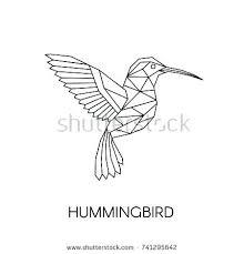 tattoo geometric outline mini hummingbird rubber st humming bird bird outline tattoo