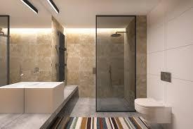 desain kamar mandi transparan desain kamar mandi minimalis mewah dinding marmer coklat shower room
