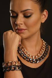 rose gold coloured necklace images Jewellery jpg