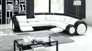 canapé cuir d angle design canape d angle blanc et noir canapac dangle noir et blanc marabella