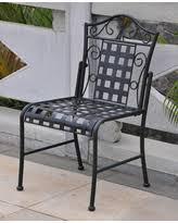 Black Bistro Chairs Incredible Deal On International Caravan Mandalay Iron Glider