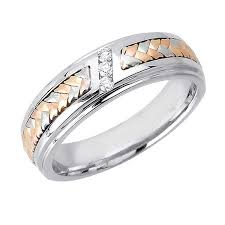 wedding ring depot 09ct tcw platinum gold two tone basket braid band 6mm 3005157