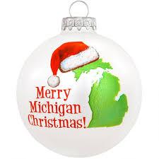 merry michigan glass ornament bronner s