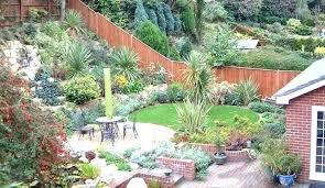 Sloping Garden Ideas Photos Backyard Landscaping Slope How To Cope With A Sloping Garden Patio