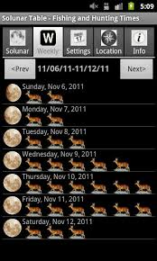 free solunar tables hunting solunar fishing hunting tm for android free download and