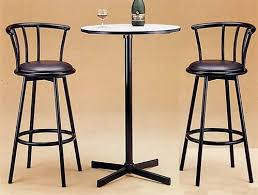 counter height bistro table laminated top 3 piece counter height bar pub table set by coaster