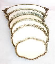 Gold Vanity Mirror 6 Gold Vintage Vanity Mirror Trays U2013 Centerpieces Or Dessert