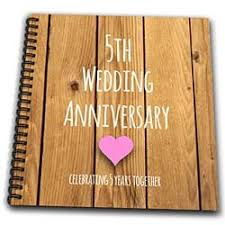 5th year wedding anniversary five year wedding anniversary gift wedding ideas