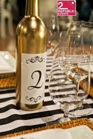 Gold Wine Bottle Table Numbers Woodland Wine Pairing Wedding