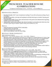 resume template for teachers resume of a preschool resume for assistant resume