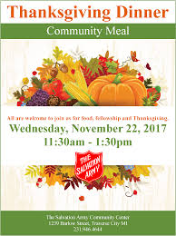 traverse city thanksgiving community meal november 22 2017