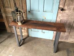 wood and metal console table with drawers console table wood metal with top reclaimed drawers and