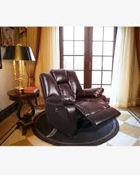 Brown Recliner Chair Cheap Boned Leather Swivel Rocker Recliner Chair With 8 Vibration