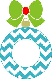 christmas ornaments clipart chevron pencil and in color
