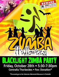upcoming events blacklight zumba party thorbeckes fitlife centers