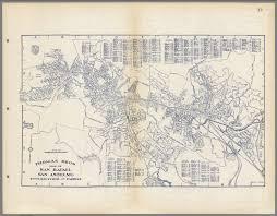 Map Of San Francisco by Thomas Bros Map Of San Rafael San Anselmo Ross Kentfield And