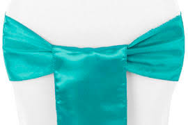 turquoise chair sashes standard satin sash turquoise at cv linens cv linens