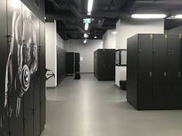 gym lockers lockers with photo print graphic design locker room