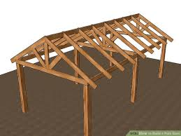 How To Build A Cheap Patio 3 Ways To Build A Pole Barn Wikihow