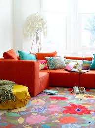 Red Turquoise Rug Orange Rug Living Room Decor Carameloffers