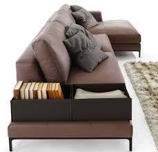 canapé d angle cuir marron design interieur canapé angle cuir marron coussins rangement
