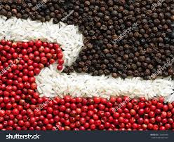 unusual maori flag made food condiments stock photo 173850446